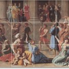 Poussin Religious Wall Tiles Room Mural Living Remodel Home Art