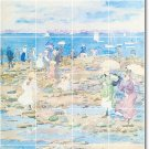 Prendergast Waterfront Mural Room Tiles Dining Modern Home Decor