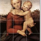 Raphael Mother Child Mural Tiles Floor Kitchen Decor House Decor