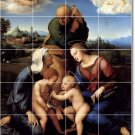 Raphael Religious Mural Backsplash Wall Tiles Interior Renovate
