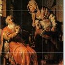 Rembrandt Men Women Tiles Floor Dining Room Interior Remodeling