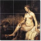 Rembrandt Nudes Floor Tiles Bedroom Mural Design Modern Floor