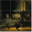 Rembrandt Birds Tile Room Mural Wall Dining Floor Decor Decor