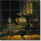 Rembrandt Birds Tile Wall Dining Room Mural Floor Decor Decor