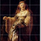 Rembrandt Women Tile Wall Room Dining Mural Decor Decor Floor