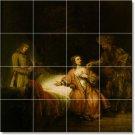 Rembrandt Historical Tile Backsplash Kitchen Mural Remodel Ideas