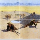 Remington Western Tile Mural Backsplash Construction Commercial
