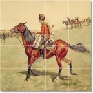 Remington Horses Tile Mural Room Dining Remodeling House Ideas