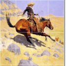 Remington Horses Mural Dining Tile Room Ideas House Remodeling