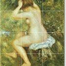 Renoir Nudes Mural Backsplash Tile Kitchen Floor Design Modern