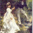 Renoir Men Women Living Tile Room Mural Remodel Ideas Interior