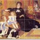 Renoir Mother Child Kitchen Backsplash Wall Tiles Decor Remodel