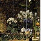 Renoir Flowers Wall Backsplash Tiles Interior Design Renovation