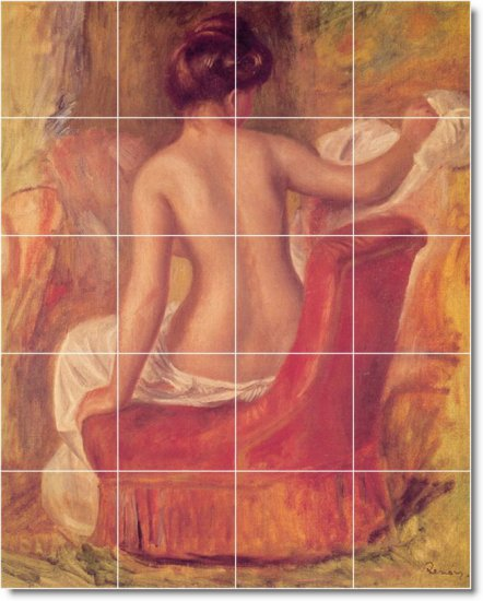 Renoir Nudes Mural Bathroom Shower Remodeling Design Idea Home