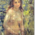 Renoir Nudes Shower Mural Tiles Wall Renovate Home Traditional
