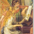 Renoir Women Murals Tile Backsplash Home Construction Decorate