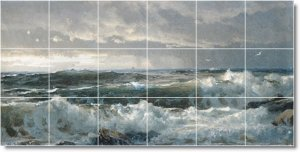 Richards Waterfront Wall Room Mural Wall Dining Modern Home Art