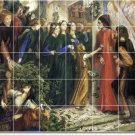 Rossetti Mythology Room Dining Tile Mural Remodel Modern House