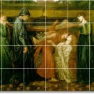 Rossetti Mythology Mural Tile Room Living Modern Floor Remodel