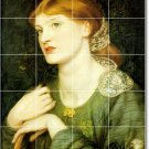 Rossetti Women Tile Mural Bathroom Shower House Design Renovate