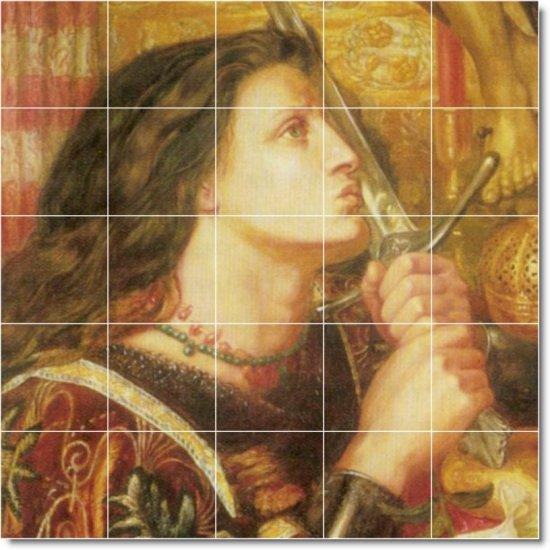 Rossetti Historical Living Tiles Room Mural Wall Remodel Design