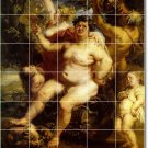 Rubens Nudes Tile Dining Murals Room House Traditional Remodel