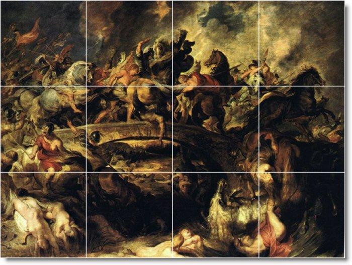 Rubens Mythology Shower Mural Bathroom Tile Construction House