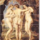 Rubens Nudes Tile Room Murals Dining Remodel Traditional House