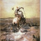 Russell Western Murals Tile Bedroom Wall Home Remodeling Idea