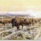 Russell Animals Tile Mural Backsplash Construction Commercial