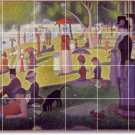 Seurat Country Mural Kitchen Tile Decor Renovations House Ideas