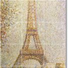 Seurat City Mural Kitchen Backsplash Tile Renovations Design Home