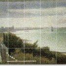 Seurat Waterfront Murals Shower Tile Wall House Modern Renovate