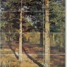 Shishkin Landscapes Floor Kitchen Mural Tiles Home Decor Modern