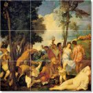 Titian Mythology Floor Tile Room Decorate Interior Traditional
