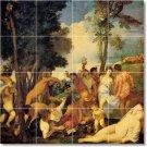 Titian Mythology Room Tiles Mural Floor Home Remodeling Design