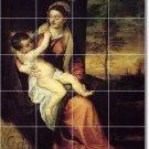 Titian Mother Child Mural Tiles Floor Kitchen Decor House Decor