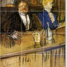 Toulouse-Lautrec Men Women Kitchen Tiles Decor Decor Floor