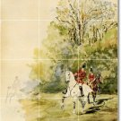 Toulouse-Lautrec Country Murals Tile Dining Room Art Modern