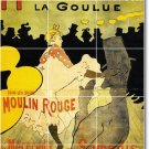Toulouse-Lautrec Poster Art Tile Room Idea Remodeling House