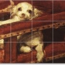 Velazquez Animals Tile Room Mural Remodeling Interior Design Idea