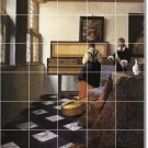 Vermeer Women Dining Mural Room Wall Tile Modern Remodel House