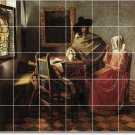 Vermeer Men Women Mural Room Tile Remodeling Design Interior Idea