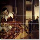 Vermeer Women Dining Mural Wall Tile Room Remodel House Modern