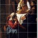 Vermeer Religious Mural Tile Room Remodeling Design Idea Interior