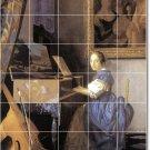 Vermeer Women Wall Mural Room Dining Tile Floor Remodel Modern