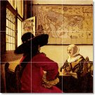 Vermeer Men Women Murals Tile Room Dining House Renovation Design
