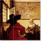 Vermeer Men Women Murals Tile Room Dining House Renovation Design