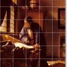 Vermeer Men Bathroom Shower Mural Tile Design Renovation Interior