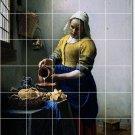 Vermeer Women Mural Bathroom Tile Wall Shower House Remodeling